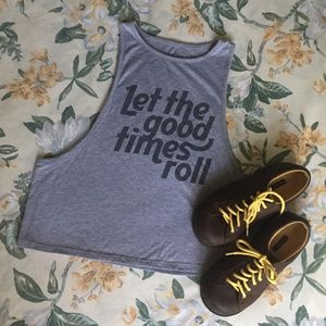 Let the Good Times Roll Gray Tank Top LOL Vintage